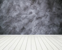 Room interior with concrete wall (Loft style) and wood floor bac Royalty Free Stock Photography