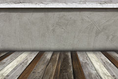Room interior concrete wall and wood floor background Royalty Free Stock Photography
