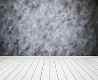 Room interior with concrete wall (Loft style) and wood floor bac Royalty Free Stock Photo