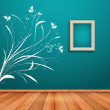 Room interior with decorative wall decal Stock Image