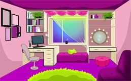 Room interior design for girls Royalty Free Stock Photography