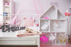 Room interior with dollhouse Stock Photos