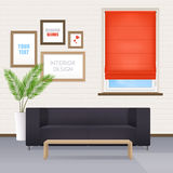 Room Interior With Furniture And Window Blinds Royalty Free Stock Photos