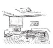 Room interior sketch Stock Photos