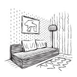 Room interior sketch Stock Image