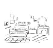 Room interior sketch Royalty Free Stock Photography