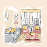 Room interior sketch Royalty Free Stock Photo
