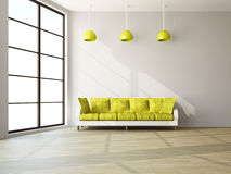 A room interior with a sofa Royalty Free Stock Images