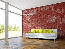 A room interior with sofa Stock Images