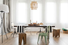 Room interior with table royalty free stock photo