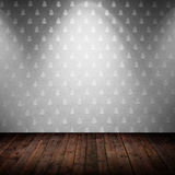 Room interior vintage with fabric wall Royalty Free Stock Image