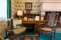 Room interior with vintage furniture, Europe