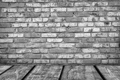 Room interior vintage with white brick wall and Royalty Free Stock Photos