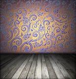 Room interior - vintage wooden floor Stock Photo