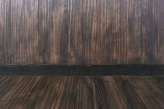 Room interior vintage with wooden wall and wood floor Royalty Free Stock Photos
