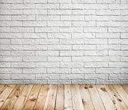 Room interior with white brick wall Stock Photos