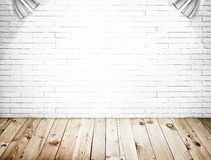 Room interior with white brick wall Stock Photography