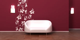 Room interior with white sofa Royalty Free Stock Image