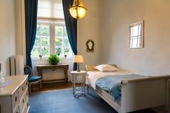 Room interior, white vintage furniture, Europe