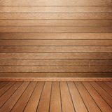 Room interior with wood wall and floor Royalty Free Stock Photo