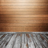 Room interior with wood wall and floor Stock Photos