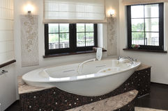 Room with a jacuzzi. On the background of a window Stock Photography