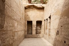 Room in Karnak Temple in Luxor, Egypt. Room in Karnak Temple in Luxor City, Egypt royalty free stock photography