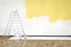 Room with a ladder Royalty Free Stock Images