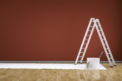 Room with a ladder Stock Images
