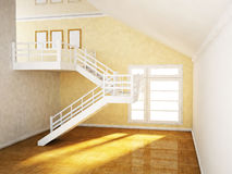 Room with a ladder and a window Royalty Free Stock Photography