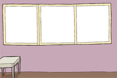 Room with Large Frames Stock Images