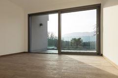 Room with large window. Modern architecture, room with large window stock image