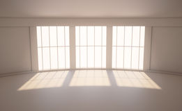 Room with a large window Royalty Free Stock Photography