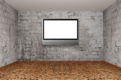 Room with lcd tv Stock Images