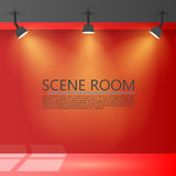 Room with a light source. Vector illustration. Background Stock Photography