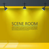 Room with a light source. Vector illustration. Background Stock Photo