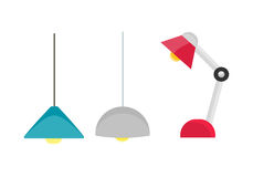 Room Lighting Equipment Vector Illustration. Royalty Free Stock Photo