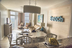 Room at Luxury Beach Resort on Ocean. Room in a condo at a luxury Beach Resort Stock Images