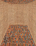 Room made from brick and sack walls Royalty Free Stock Image