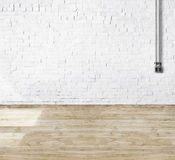 Room Made of Brick Wall and Wooden Floor Royalty Free Stock Image