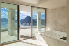 Room with marble bathroom Stock Image