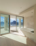 Room with marble bathroom Royalty Free Stock Images