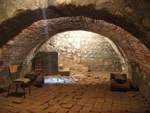 Room in a medieval castle royalty free stock images