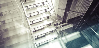 Room. Modern office interior, stairs, clean space in business bu Royalty Free Stock Images