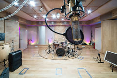 Room with music equipment Stock Images