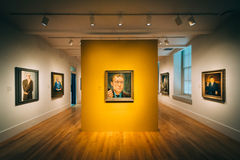 Room in the National Portrait Gallery at the Smithsonian America Royalty Free Stock Photo