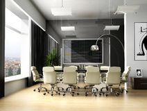 Room of negotiation. At office in Verde 3d image Stock Images