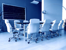 Room of negotiation in office. Room of negotiation at office in Verde 3d image Stock Photography