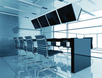 Room of negotiation in office. Room of negotiation at office in Verde 3d image Stock Images