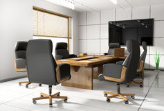 Room of negotiation in office Royalty Free Stock Photography